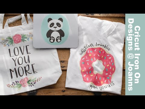 NEW!!!! Cricut Iron On Designs from Joanns with the Easy Press