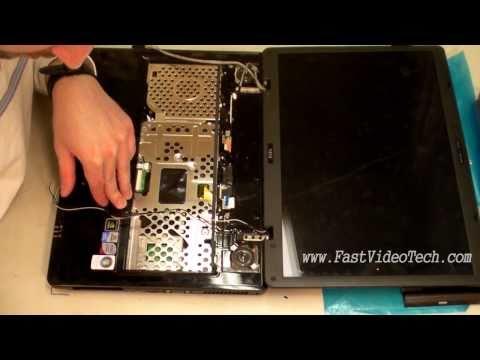 MSI Laptop Disassembly / Take Apart To Replace Power Plug