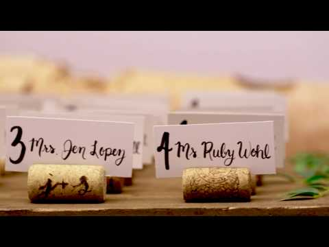 DIY Wine Cork Place Card Holders for your Wedding!
