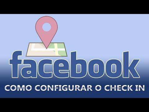 Configurar check in no facebook