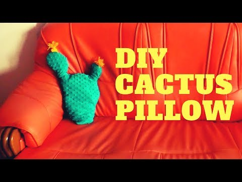 DIY Cactus Pillow | Easy Summer Crafts to Make When Bored | Cute Room Decor | by Fluffy Hedgehg