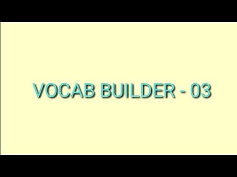 VOCAB BUILDER -03