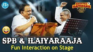 SP Balasubramanyam \u0026 Ilayaraja : Rare moments on stage    Maestro Ilaiyaraaja's Musical Concert