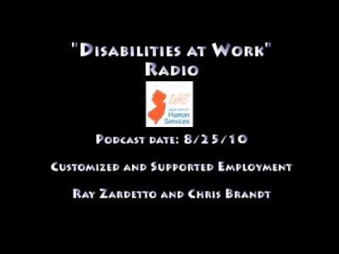 Disabilities at Work Radio - Customized and Supported Employment