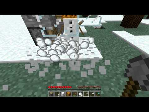 Minecraft INFINITE SNOW super fast and super easy