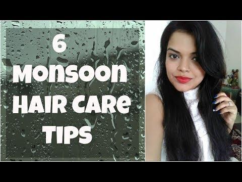 6 MONSOON HAIR CARE TIPS in HINDI | RAINY DAYS HAIR CARE, HAIR FALL, GROWTH, ITCHY SCALP