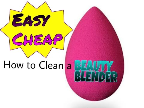 How to Clean a Beauty Blender / Makeup Sponge | TanyaSays|