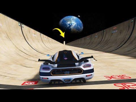 Carro mais Rápido do mundo de 10 Milhões descendo a MAIOR RAMPA DO MUNDO! (GTA 5 Koenigsegg One:1)
