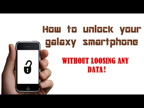 How to unlock your galaxy  phone WITHOUT LOOSING ANY DATA!