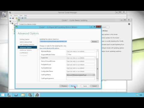 Configuring Cluster Aware Updating in Windows Server 2012