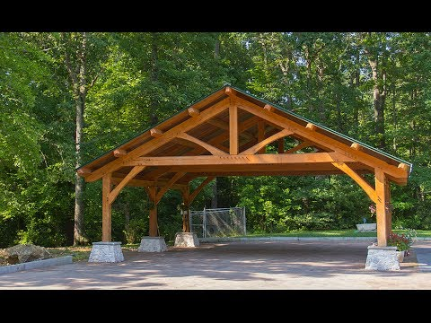 Beach Wood Timber Frame Carport Build - Part 2