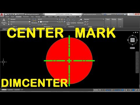 How to Add Center Mark in AutoCAD 2018 using DIMCENTER command