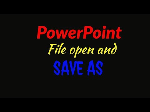 PowerPoint: File open and save as l Bangla Tutorial l POWERPOINT Tutorial for presentation,