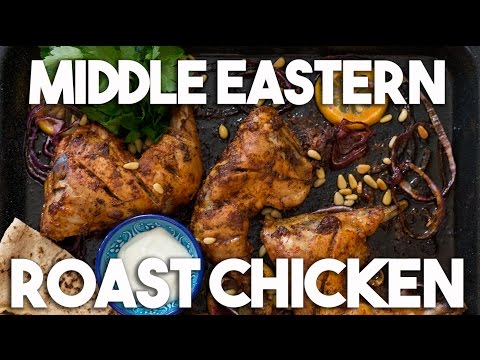 MIDDLE EASTERN roast CHICKEN with Toum - Easy Baked Recipe
