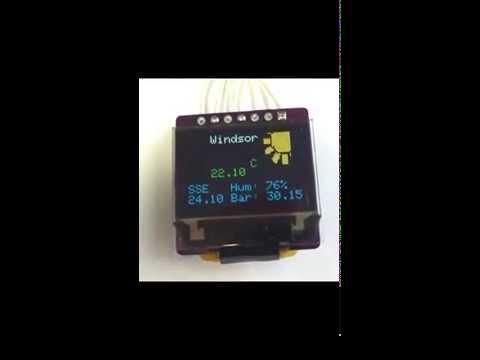 ESP8266 Weather Info Desktop Display v1.2