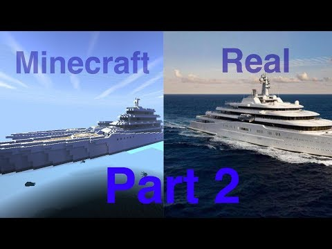 How to build a yacht in Minecraft Part II.