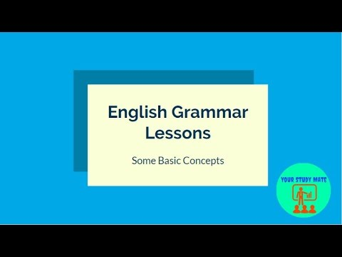 Basic English Grammar Lesson in Hindi - 1 : Your Study Mate
