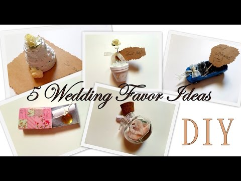 5 Creative Wedding Favor Ideas (Part 1)  DIY -Easy and Affordable | by Fluffy Hedgehog