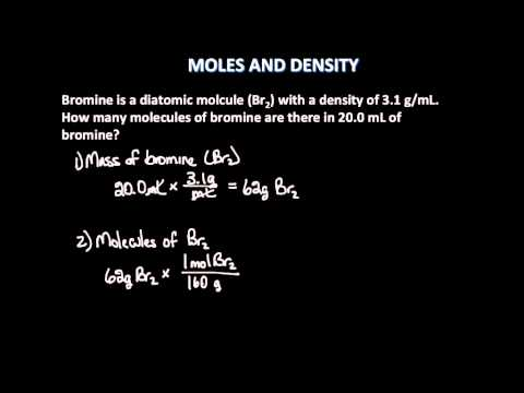 Moles and Density