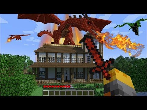 GIANT DRAGON APPEAR IN MY HOUSE IN MINECRAFT !! Minecraft Mods