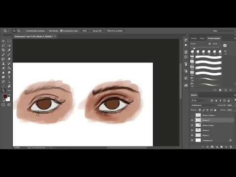 Tutorial | How to draw an eye - step by step | Photoshop