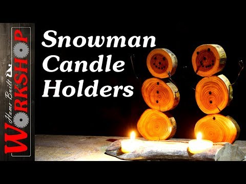 How to Make a Snowman Candle Holder