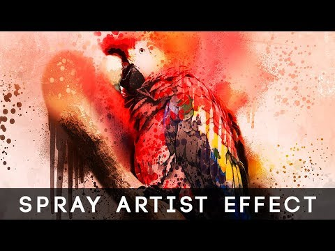 Photoshop Tutorial | Spray Artist Photoshop Effect