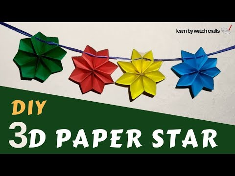 How to make 3D paper star at Your Home (DIY) | Learn By Watch Crafts