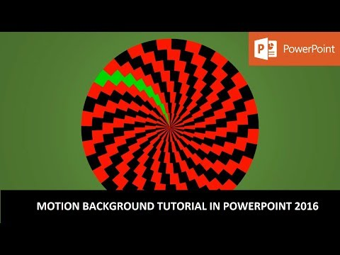 The Spinning Circles | Motion Backgrounds | PowerPoint 2016 Tutorial | The Teacher