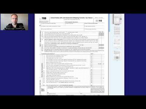 Gift Tax Return Form 709 Instructions