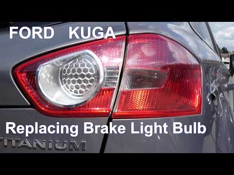 Quick How To Replace Tail Brake Light Bulbs on Ford KUGA