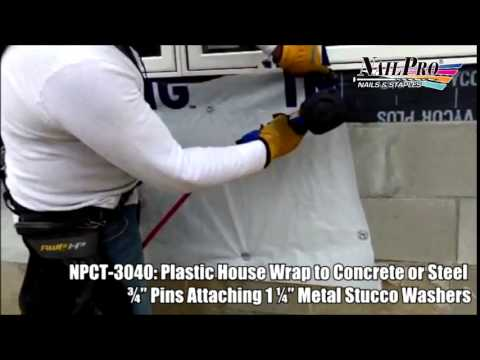 Plastic Wrap to Concrete