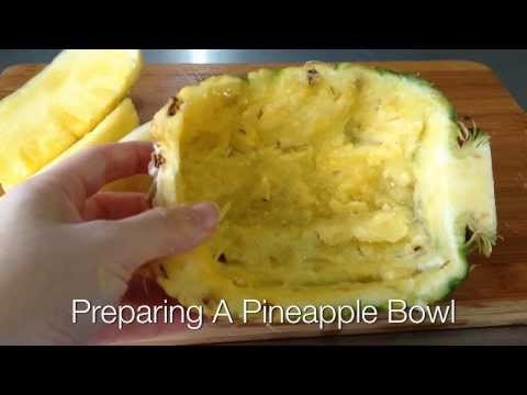 How to prepare a pineapple bowl