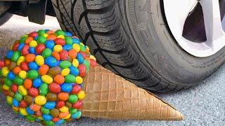 Crushing Crunchy & Soft Things by Car! EXPERIMENT: Car vs Coca Cola, Candy Toys Balloons