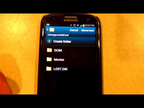 How to Transfer Apps, Pictures From Internal Storage to Micro SD Card without installing an App.3gp