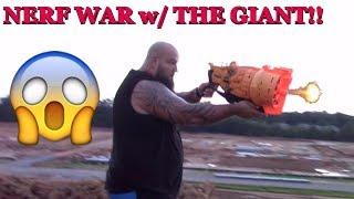 NERF WAR, ATTACK THE GIANT, JAKE!! GUN FIRE BATTLE  & HEAVY COMBAT...BEWARE FUNKEE BUNCH!!