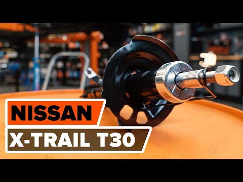 How to replace front shock absorbers NISSAN X-TRAIL T 30 TUTORIAL | AUTODOC