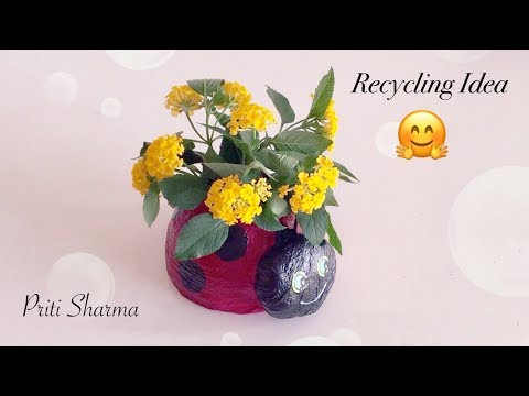 Waste Plastic Bottle Recycle Use For Room Decoration / Recycling Craft Project   Priti Sharma