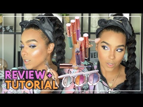 FENTY BEAUTY SUMMER COLLECTION #BEACHPLEASE REVIEW and TUTORIAL