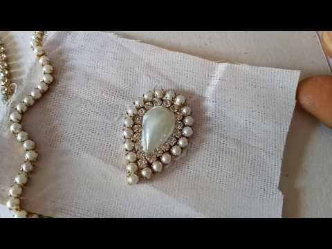 Making paper earrings at home | diy earrings with pearls and beads