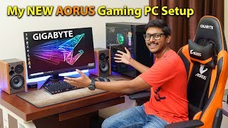 My New AORUS Gaming PC Setup 🔥 | Ultimate HDR Gaming Experience