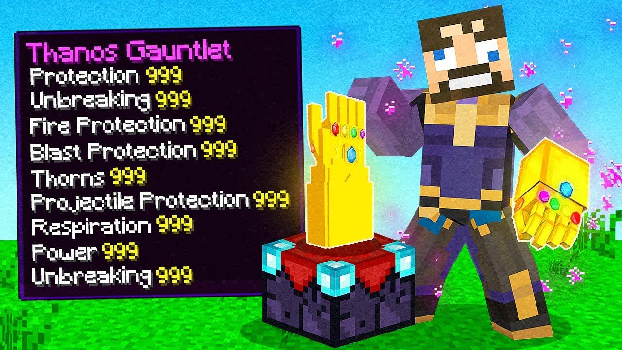 ENCHANTING LEVEL 999,999 Thanos GAUNTLET in Minecraft (Insane Craft)