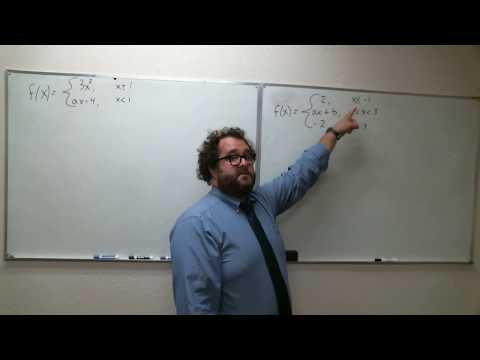 Section 2.4 #63, 65, 68 - Larson Calculus - Creating Piece-wise Continuous Functions