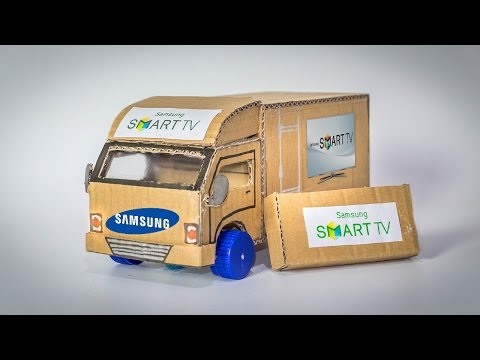 AMAZING Samsung Truck Out of Paper DIY - How To Make a Truck Container at Home