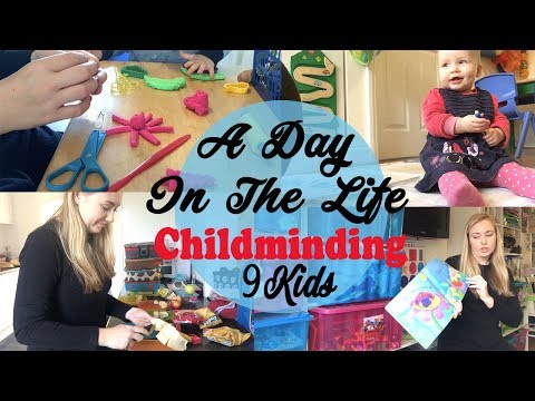 A DAY IN THE LIFE OF A CHILDMINDER - 9 KIDS - STAY AT HOME MUM - WORK FROM HOME MUM - ADITL