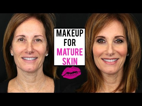 Makeup Tutorial For MATURE SKIN   Makeup On A Client   JamiePaigeBeauty