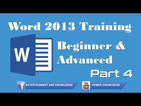 Word 2013 for Beginners Part 4 : How To Change Font Size, Color, Line and Paragraphs spacing