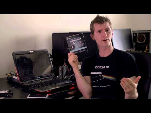 Linus gives a quick demo of the new Corsair SSD and Hard Disk Drive Cloning Kit.