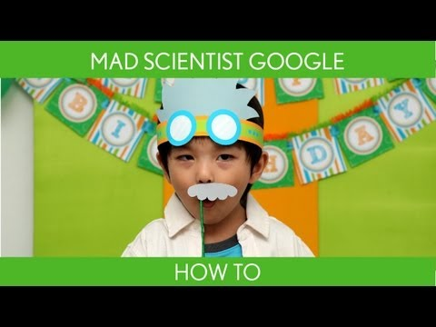 How to make : Mad Scientist Google for Photo Booth ( Birthday Party ) // Mad Scientist - B43