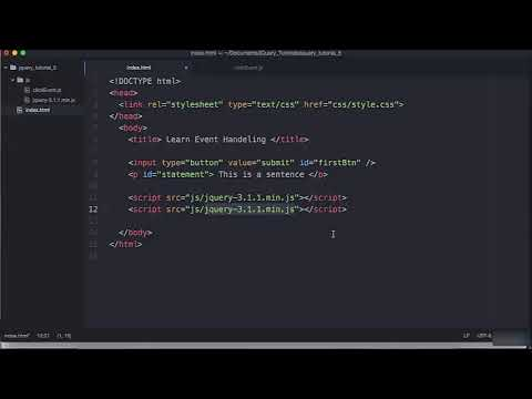 Learn JQuery Tutorial Step by Step for Beginners JQuery Full Video Tutorial #2